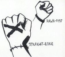 StraightEdge Rawkfist by Master-Bryon