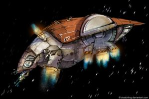 Bug dropship by sketchling