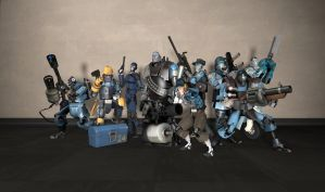 Robotic Mercenaries Group Shot - BLU by PrincessBloodyMary