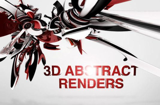 3D Abstract Renders vol1 by wegraphics