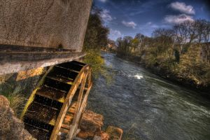 mill at the river by Kerd