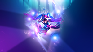 Dj Sona Ethereal ~ League of legends - Wallpaper by Aynoe