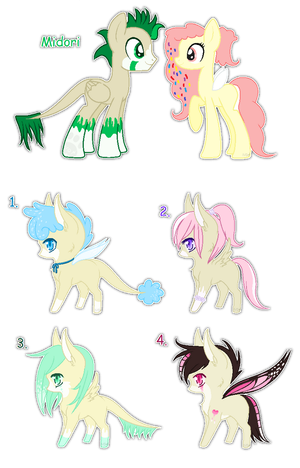 Midori and Tulips foals {closed} by Ivon-Cheetah
