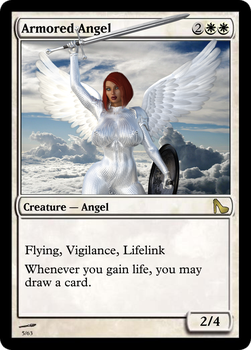 Sexy MTG: Armored Angel by Lanif-Angelkiss
