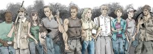 Walking Dead cast - color by KyleIAM