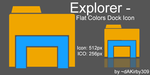 Windows Explorer DOCK ICON - Flat Colors by dAKirby309
