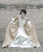 18th century brocade gown by morrflickan