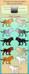 WoLF: Pelt Color Guide by DasChocolate