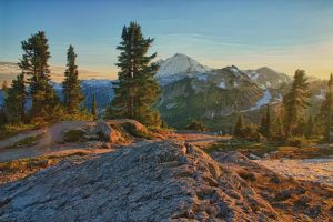 Mount Baker at sunset by arnaudperret