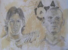 Coffee: Messi and Ronaldo by TERRIBLEart