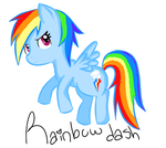 Rainbow Dash by chilce