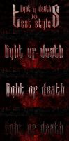Light Of Death - 16 Photoshop Text Styles by MikiMikibo