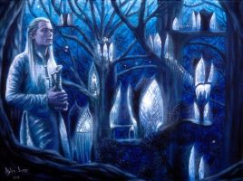 Lights of Lothlorien by Gwillieth