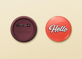 Pin Button Badge Mock-Up by GraphicBurger