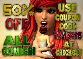 50% OFF ALL COMICS AT MY SITE! by PerilComics