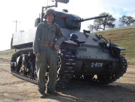Me and the Stuart Tank by warman707