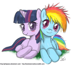 Filly Dash and Twilight by johnjoseco