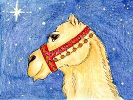 Red Court Camel ACEO by karja