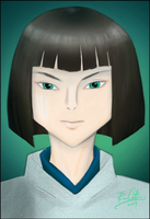 Haku from Spirited Away by theblindalley