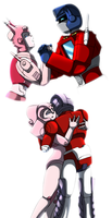 Elita One and Optimus Prime by TheAnimatedReviewer