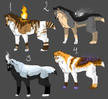 MAGIC WOLF ADOPTS .:OPEN:. by Tanchie97