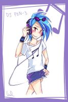 DJ PON3 from MLP - human form by chripark