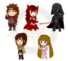 Assorted Chibis - Sith and Potatoes by Dragon-FangX