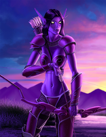 night elf fan art by johnderekmurphy