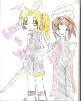 Yoh and Edo doodle by Shinomori-Misao