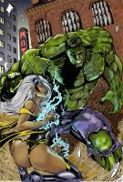 Storm vs Hulk by MrFixit741