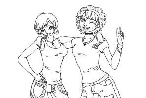 BFF lineart by neuroticism94