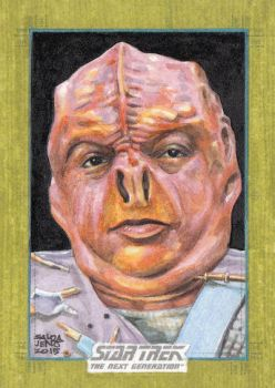 STAR TREK - the next generation sketch card 5 by JASONS21