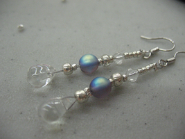 Blue bead Earrings 2 by sampdesigns