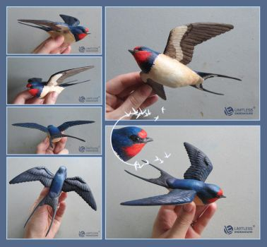 Wooden Barn Swallow by LimitlessEndeavours