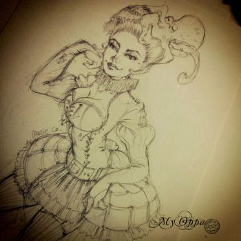 sketch steampunk :) by myoppa-creation
