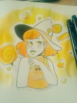 Inktober2016-Candy Witch by KatariiinaP