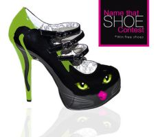 Hand painted shoes kitty shoe by studiojellyfish