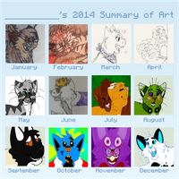 SparksHumbleAbode's 2014 Summary of Art by SparksHumbleAbode