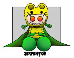 Lil' Plusher Serpentor by 5chmee