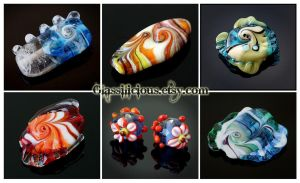Focal lampwork beads 1 by Faeriedivine
