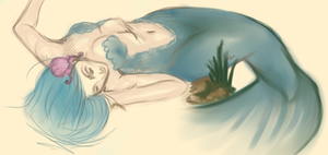 Mermaid sketch by Bonnie-Anne
