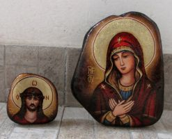 Painted Icon On Stone 4 by stefanpriscu