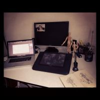 Workplace at home by EdBourg