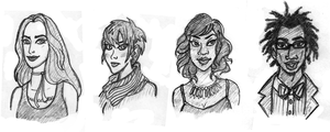 OC Commission: Rea, Velvet, Delilah, and Desmond by Wickfield