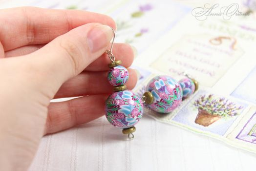 Polymer clay earrings by OrionaJewelry