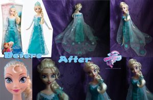 Frozen Elsa hand painted by angel99percent
