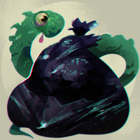 SPITPAINT02: Hungry Monster by nicolemhamilton