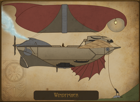 Windfisher - Ship concept by Callairah