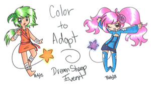 Color to Adopt Dream Sheep Event by Ragna-Rnnea