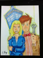 Commission: Eleven and Rose by KnoppGraphics